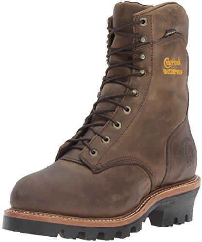 "Chippewa Men's 9"" Waterproof Insulated Steel-Toe EH Logger Boot,BayApache,9.5 EEE US"