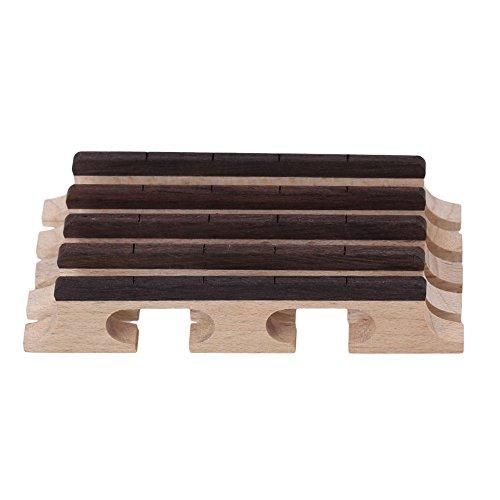 BQLZR Holz Farbe Ahorn 4 String Banjo Ukulele Gitarre Br¨¹cke String Instrumente Teile Pack von 5
