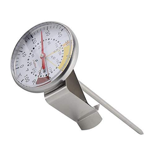 EECOO Kaffeethermometer, Edelstahlsonde Sofortthermometer Küchenlebensmittel Fleisch Milch Kaffee Zeigerthermometer