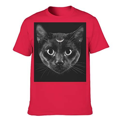 Drachenkatze Thema Herren Baumwoll T-Shirt Lustig Modern Geschnitten T-Shirt red5 l