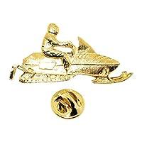 スノーモービルピン~ 24Kゴールド~ラペルピン~サラのTreats & Treasures