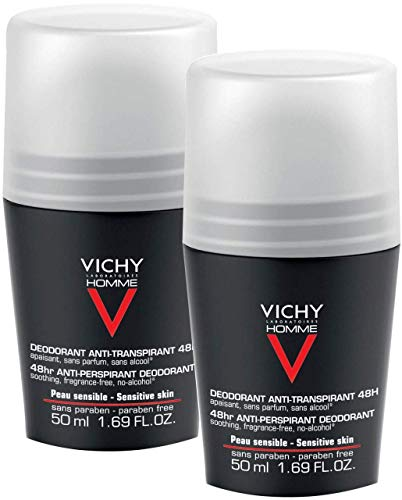 Vichy Homme Desodorante Roll-On 48H, 50ml.Pack 2Un.