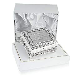 Engraved Silver Plated 70th Birthday Trinket Box - We engrave any Personal Message up to 100 characters on the lid of the Trinket Box How to Personalise: Use the Customize Now button before proceeding to Checkout to provide us with your Personal Mess...
