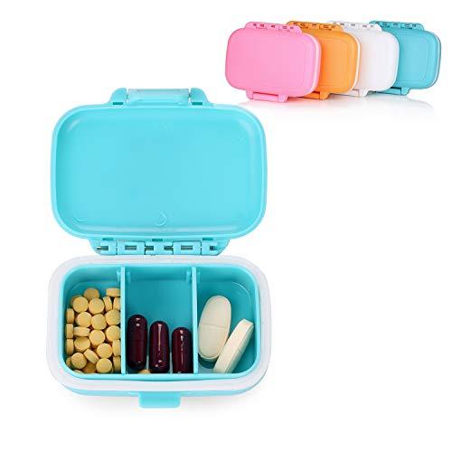 Crazy-m 4 Stück Pillendose Wasserdichter Pillenbox Tablettendose mit 3 Fächern, für Reise/Urlaub/Outdoor Sport Tablettenbox