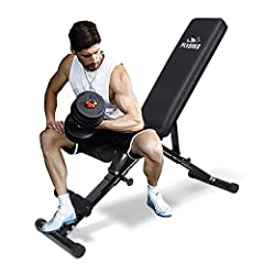 【620 Lbs Weight Capacity】Designed a unique frame with triangular structure and made of heavy-duty commercial quality steel, which is very sturdy and durable. All this is especially important in your workout. 【Fast Adjustment With Automatic Lock】Desig...