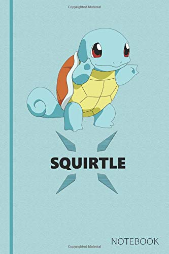 Squirtle: Anime Lover Notebook, 120 Squared Pages, Gift, School&Office, Pokemon, Squirtle