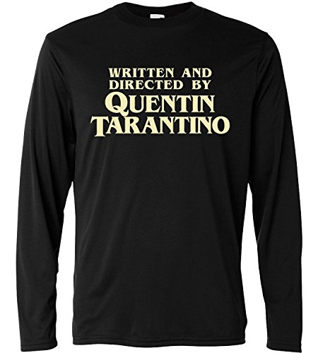 LaMAGLIERIA Camiseta de Manga Larga Hombre - Written and Directed by Quentin Tarantino - Long Sleeve 100% algodòn