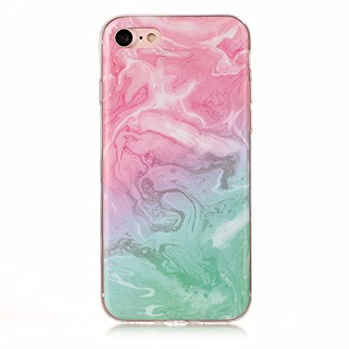Miagon Marble Case for iPhone SE 2020,Slim Thin Glossy Soft TPU Rubber Gel Cute Women Girls Man Phone Case...