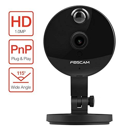 Foscam fi-c1 + 4 GB Foscam C1 IP-camera HD 720p-binnen, zwart, microSD 4 GB