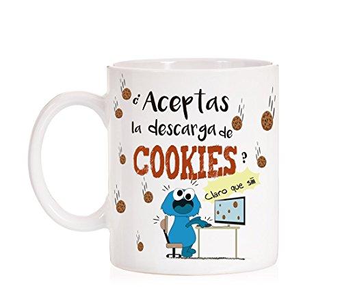 MardeTé Taza ¿Aceptas la Descarga de Cookies? Claro Que si. Taza Regalo para informaticos