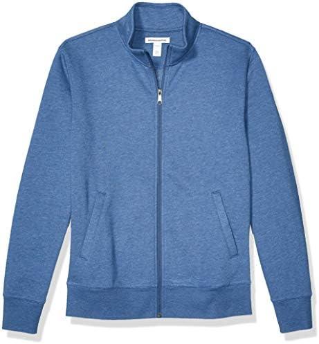 Amazon Essentials Men s Standard Full Zip Fleece Mock Neck Sweatshirt Blue Heather Medium product image