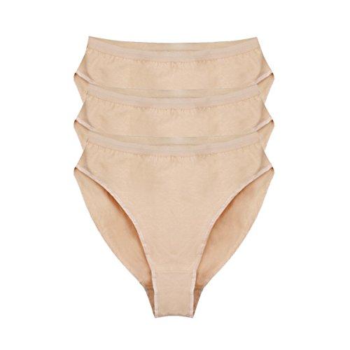 Bezioner Ballett Dance Slip Panty Tanzen Unterwäsche 3er Pack Beige Für Kinder und Erwachsene Beige M
