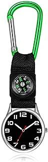 Lovke Carabiner Nurse Watch Belt Fob Watch Hook Clip Climbing Nurse Watch-Green