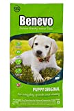 Vegan puppy food from Benevo. Complete dry puppy food, wheat free, large and small breed. Holistic & non-gm dried kibble for puppies 10kg