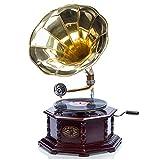 aubaho Gramophone avec pavillon pour Disque 78 Tours - Style Antique
