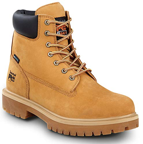Timberland PRO Direct Attach Men's, Wheat, Soft Toe, Slip Resistant, Waterproof, 6-inch Boot (12.0 W)