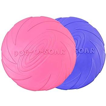 ZSWQ Frisbees de Chien - Disque Chien Jouet de Chien à Disque Volant Dog Disc Caoutchouc Naturel pour Chiot Petite Taille