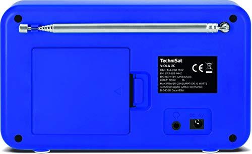 TechniSat VIOLA 2 C - tragbares DAB Radio (DAB+, UKW, Lautsprecher, Kopfhöreranschluss, 2,4 Zoll Farbdisplay, Tastensteuerung, klein, 1 Watt RMS) weiß/blau