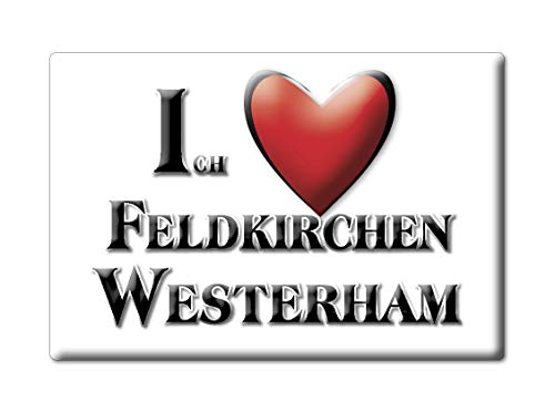 Enjoymagnets FELDKIRCHEN WESTERHAM (by) Souvenir Deutschland Bayern Fridge Magnet KÜHLSCHRANK Magnet ICH Liebe I Love