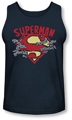 Superman - - La Chaîne Des Hommes rupture Débardeur, Large, Navy