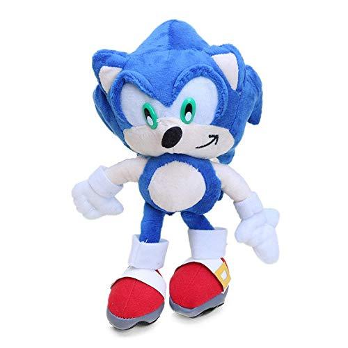 40 cm Super Sonic Le Hérisson et super Mario en Plüsch, Jouets Soniques Sonic Shadow Knuckles Warteschlangen Mignonnes Poupées en Plüsch doppelt Laimi
