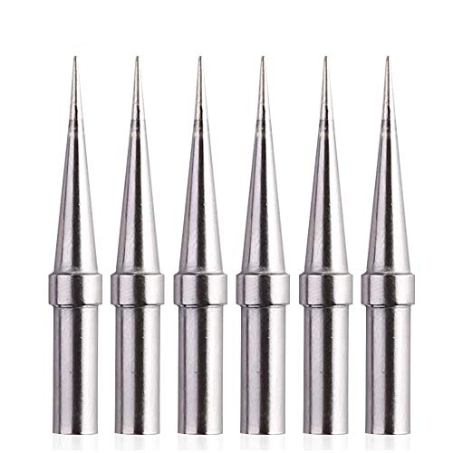 6pcs Replacement Tips Weller ET Soldering Iron Tips for WES51/50,WESD51,WE1010NA,PES51 / 50,LR21 ET Tip Series (6PCS-02)