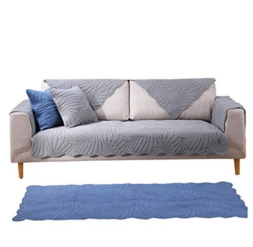 rutschfeste Couch Armchair Slipcover aus moderner Baumwolle Slipcover,Möbel Protektor,Sofa Handtuch,Gray,90X120cm