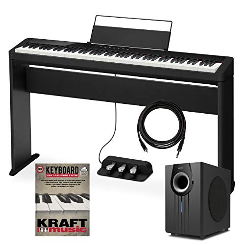 Buy Casio Privia PX-S1000 Digital Piano - Black with Stand, Triple Pedal, Subwoofer and Lesson Book