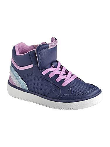 Vertbaudet Mädchen-Sneakers, Schnürung & Reißverschluss Marine 28