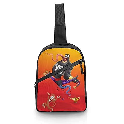V-enom Aladdin y la lámpara mágica Correa ajustable Bandolera en el pecho Bolso bandolera plegable Mochila de hombro multiusos Mochila
