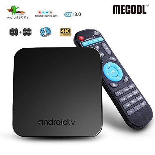 MECOOL Android TV Box 9.0, 4GB RAM 32GB ROM
