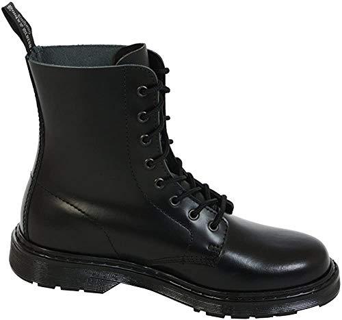 Boots & Braces - easy 8 Loch monochrom TR Black on Black Stiefel Rangers Schwarz Größe 41 (UK7)