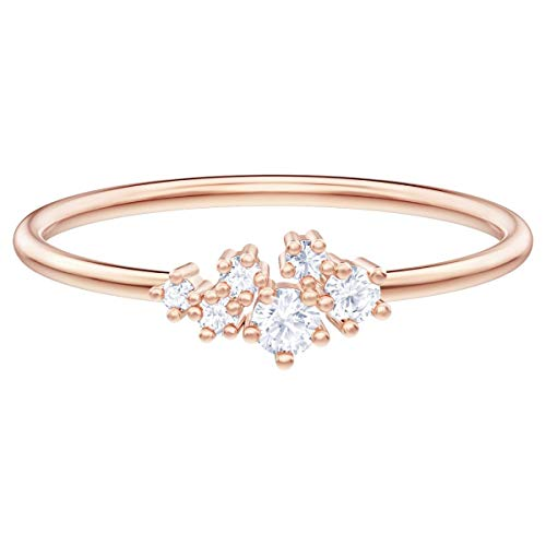 Swarovski Crystal Authentic Limited Edition Penélope Cruz Moonsun - Anillo chapado en oro rosa y blanco, talla 6