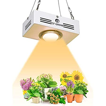 2nd Generation Flowering and Veg Roleadro HYG08-2X400W-W 800W COB Full Spectrum Grow Light LED Plant Lamp with ON//Off Switch and Daisy Chain Function