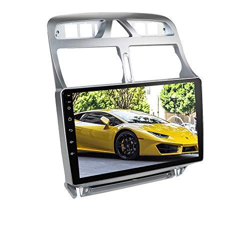Ossuret Autoradio mit 9-Zoll-Touchscreen Passend für 2006-2013 Peugeot 307 / 307CC / 307SW, Android 10 Auto-FM-Radio GPS-Navigation Unterstützung Lenkradsteuerung