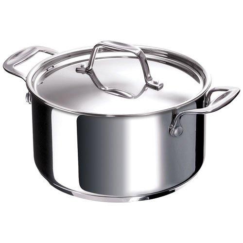 Bekaline 12061264 Chef Faitout + Couvercle en acier inoxydable 26 cm