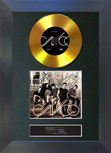 U've Been Frame #186 Gold CD CNCO Primera Cita firmado con autógrafo de CD y portada, impresión A4 Rare Perfect Birthday (297 x 210 mm)