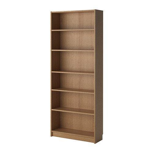 Verstelbare planken Hoge Kwaliteit 80x28x202 cm eiken fineer, BILLY Boekenkast