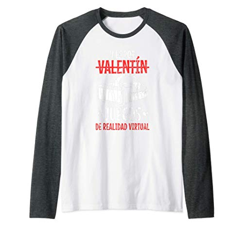 Divertida del día de San Valentín de Realidad Virtual Camiseta Manga Raglan