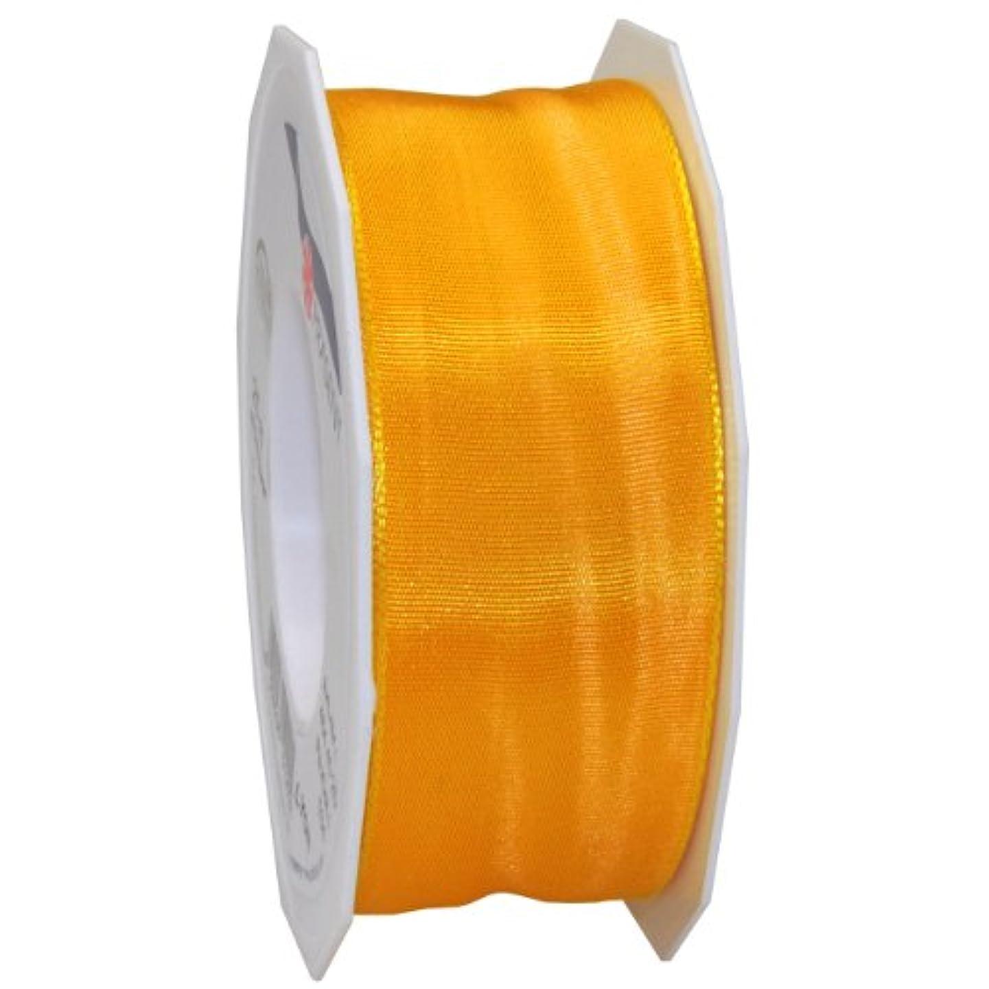 Morex Ribbon French Wired Lyon Fabric Ribbon, 1-1/2-Inch by 27-Yard, Canary Yellow