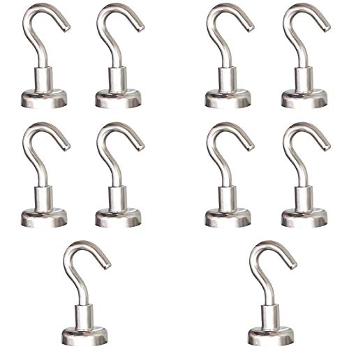 MHDMAG Magnetic Hooks Refrigerator,Cruise Ship Accessories, 22LBS Super Magnets with Neodymium Rare Earth for Hanging, Door Holder, Keys, Home, Office, Refrigerators, BBQ, Pack of 10