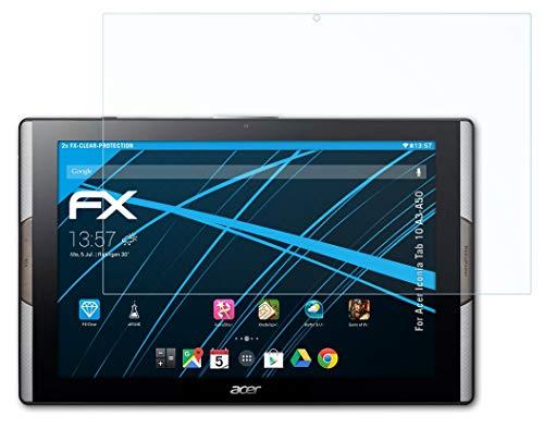 atFolix Schutzfolie kompatibel mit Acer Iconia Tab 10 A3-A50 Folie, ultraklare FX Bildschirmschutzfolie (2X)