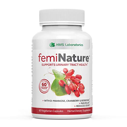femiNature™ Urinary Tract Infection Treatment for Women - Fast Acting Bladder and Urinary Tract Cleanse | D-Mannose, Cranberry Extract, MSM & Berberine - 60 Vegetarian Capsules