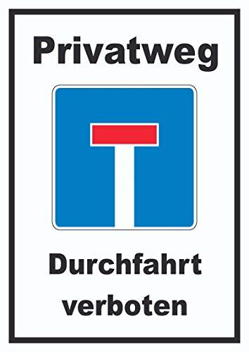 HB-Druck Privatweg Sackgasse Schild A3 (297x420mm)