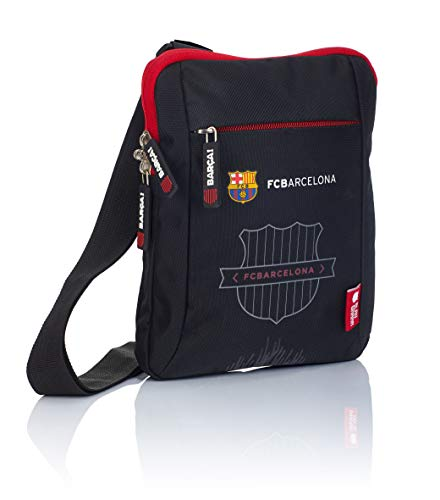 F.C. Barcelona FC-241 Barca Fan 7 Bolso Bandolera, Niños, Negro, 24 x 19 x 2 cm