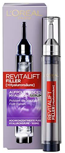 L'Oréal Paris Hyaluron Serum, Revitalift Filler, Anti-Aging Serum, Anti-Falten und Volumen, Mit Hyaluronsäure, 16 ml