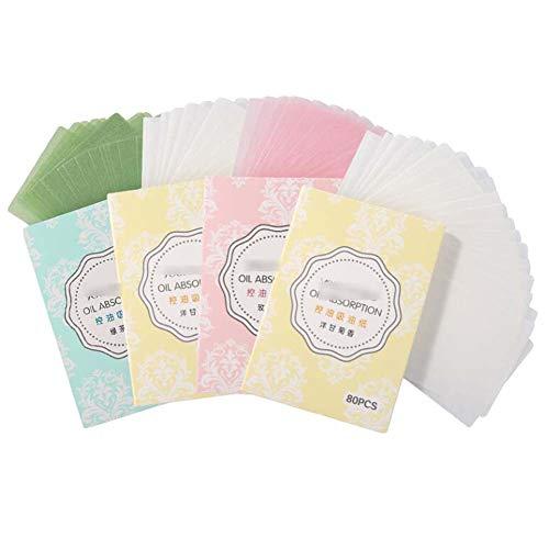 Papier buvard pour le visage à l'huile de rose de thé vert camomille, style aléatoire, 320 feuilles