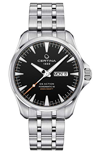 Certina DS Action Powermatic 80 Orologio da uomo quadrante nero C032.430.11.051.00