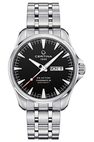 Certina DS Action Powermatic 80 Reloj para hombre con esfera negra C032.430.11.051.00