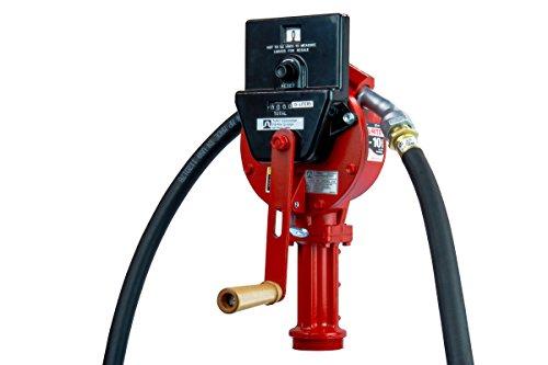 Fill-Rite FR112CL Dreh-Handpumpe mit Ablaufschlauch, Düsenauslauf, Saugrohr und Literzähler